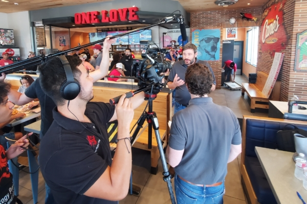Corporate Film Shoot for Raising Cane's Grand Opening, San Antonio, Texas
